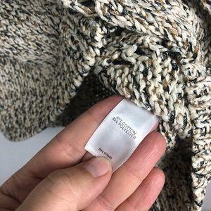 J. Jill Sweaters - J. Jill Tan, White, Black Open Knit Sweater, M.
